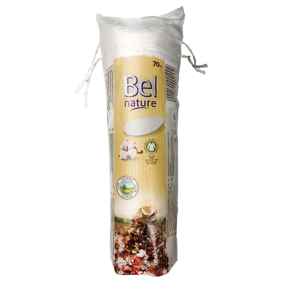 Bel Nature 유기농 화장솜(원형/70ea)